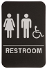 6 x 9 Black/White UNISEX (w/wheelchair) ADA Sign