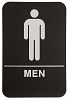 6 x 9 Black/White MEN ADA Sign