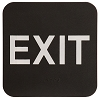 6 x 6 Black/White EXIT ADA Sign