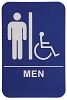 6 x 9 Blue/White MEN (w/wheelchair) ADA Sign