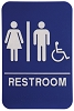 6 x 9 Blue/White UNISEX (w/wheelchair) ADA Sign