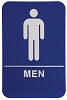 6 x 9 Blue/White MEN ADA Sign