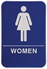 6 x 9 Blue/White WOMEN ADA Sign