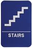6 x 9 Blue/White STAIRS ADA Sign