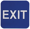 6 x 6 Blue/White EXIT ADA Sign