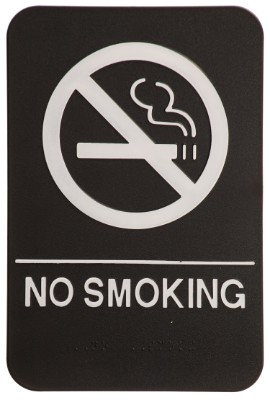 6 x 9 Black/White NO SMOKING ADA Sign