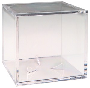 Clear Baseball Ballqube Acrylic Display Case with Grandstand Holder